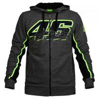 Wholesale Men S New Casual Zip - 2017 NEW Racing Valentino Rossi VR46 Panel Moto GP Zip Hoodie Sports MOTOGP Motorbike Coat Moto GP Racing VR46 Hoodies Motorcycle Casual
