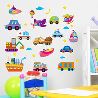 Wholesale Beautiful Tiles - Cool Car Wall Stickers Beautiful Boys Tile Love Single-piece Package Animal PVC Kids Bedroom Wall Stickers for Home Decoration