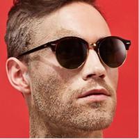 Wholesale Wholesale Aviation - Wholesale- Men Luxury Brand Sunglasses Half Frame Mirror Women Sunglasses Round Pink Aviation Sun Glasses Lunette Again UV400 Rays Eyewear