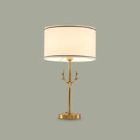 ingrosso lampade da tavolo-Hig qualità europeo stile americano royal corpo in rame paralume in tessuto lampade da tavolo a led retro lampada da tavolo da tavolo lampada da comodino lampada da comodino