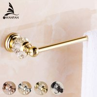 Wholesale Crystal Towel Rack - Brass & Crystal Golden Single Towel Bar,Towel Holder, Towel Rack, Bars Products,Bathroom Accessories Free Shipping HK-21