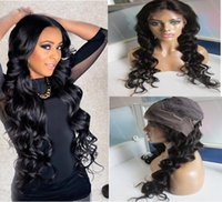 Wholesale best lace natural hairline wigs for sale - Group buy Best Quality A Malaysian Virgin Hair Loose Wave Lace Front Wig with baby hair density Natural Hairline Human Hair Wig