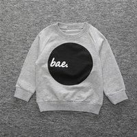 Wholesale Cute Outfits For Boys - Boys t-shirts long sleeve Spring Hoody Cotton T-shirts for boy Children Clothing Outfits Homewear cartoon cute boys cloth wholesale clothing