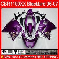 Wholesale Honda Blackbird - Body For HONDA Blackbird CBR1100 XX Glossy purple CBR1100XX 96 97 98 99 00 01 81NO8 CBR 1100 XX 1100XX 1996 1997 1998 1999 2000 2001 Fairing