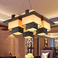 Wholesale Chinese Lamp Antique - Wholesale- Modern Chinese Pendant Lights hotels restaurants lamps living room lights antique solid wood sheepskin lights LU826476