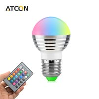 Wholesale Colorful Changeable Lamps - 1X Cute AC 85V - 265V 110V 220V 16 Colorful Changeable RGB LED Spotlight Bulb 5W Christmas Decor light lamp+IR Remote Controller