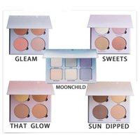 Wholesale Sun Glow Wholesale - Highest quality! HOT Bronzers &Highlight Kit Makeup Face Powder Blusher Palette GLEAM THAT GLOW Sweets SUN DIPPED DHL BFFA292