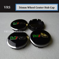 Wholesale skoda caps - 20pcs Hot selling For VRS skoda Auto Wheel hub Logo Caps 56mm Wheels Rims Accessories Car Wheel Rim Emblems Covers