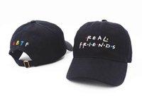 Wholesale Ball Ati - 2017 free shipping Fashion hip hop Real friends trending rare fall ATI feel immediately night hat famous Tumblr hat Baseball Cap hats