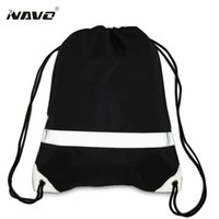 Wholesale simple drawings for sale - Fashion drawstring backpack with reflective strap simple classic draw string solid cinch bag back bag for travel out door