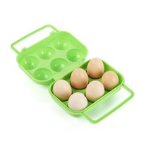 free shipping   3 color ABS Portable Carry 6 Eggs Storage Box Container Holder Case Folding Basket Kitchen Gadgets,Carry eggs, not afraid of breaking eggs