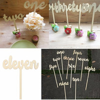 1-12 Numéros de table en bois Set Freestand Stick Wedding Birthday Party Design Decoration Artisanat Événements Party Favor Supplies Gadget