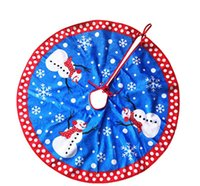Wholesale Christmas Presents Ornaments - new Christmas decorations present fashion DIY Party Red Christmas snowman Tree skirt high quality flannel ornaments Party Supplie wholesale