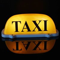 Wholesale Taxi Roof Signs - dc 12V Car Taxi Meter Cab Topper Roof Sign Light Lamp Bulb Magnetic Base Yellow white