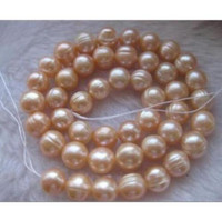 Wholesale pink pearl necklace 14k - charming AAA+ 11-13MM South Sea Pink Pearl Necklace 18 Inch 14k yellow GOLD CLAS