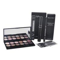 Wholesale Pink Mascara Brush - Qibest Eyes Makeup Set Mascara + Eyeliner + Eyeshadow + Eyelash Makeup Brush Magical Halo Mascara New Arrival 2801040