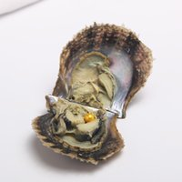 Wholesale Yellow Oyster Shell - Materials for Jewelry Making Zhuji 6-7mm AAA Grade Yellow Round Pearl in Oyster Shell Akoya Oyster Fashion Gifts