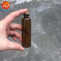 şişe şişeleri mantar toptan satış-30 * 100 * 12.5mm Mantar ile 50 ml Amber Cam Şişeler Boş Tiny Kavanoz Cam Mantarlar Sıvı Ilaç Şişeleri Şişeler 50 adet Ücretsiz Kargo