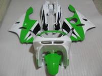 Wholesale Kawasaki Zx6r 97 Green Fairings - Fairing kit for Kawasaki Ninja ZX6R 1994 1995 1996 1997 green white fairings set zx6r 94 95 96 97 OT02