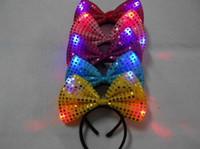 Sequins Fascia LED Light Up partito cappello luminoso Lampeggiante Partito lampeggiante Favori Natale Halloween Stage bar stage vestito fantasia props