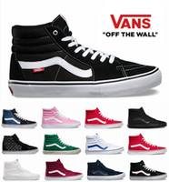 Wholesale Canvas High Tops Mens - Original  High Tops SK8-Hi  Canvas Shoes Cheap Classic White Black Red For Women And Mens  Skateboarding Sneakers Casual Shoes