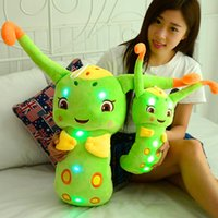 Vente en gros - 2016 Colorful Caterpillars LED Light Stuffed Plush Baby Toys