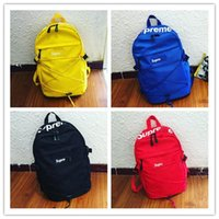 Wholesale Supreme X L V Backpack Authentic Quality Best AAA Christopher x18x43cm Red Men Women School Bag Sport Outdoor Packs Bags