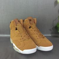 Wholesale Christmas Sail - Mens Retro 6 Wheat Basketball Shoes For Sale Golden Harvest Sail-Golden Harvest
