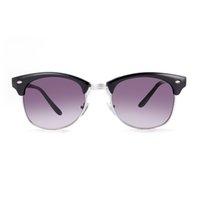 Wholesale Progressive Bag - Brand new sunglasses for men Round polarized sunglasses Bright black progressive gray UV400 with Glasses cloth bag box GS81-1