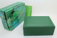 Wholesale Watch Ro - Luxury Watch Boxes Green With Original Ro Watch Box Papers Card Wallet Boxes&Cases Luxury Watches