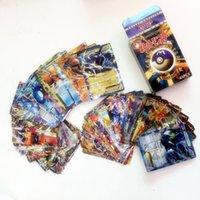 Wholesale Flash Trading - Christmas gift #10 Flash card ALL MEGA 60pcs=1set poke cards EX Charizard Venusaur Blastoise For children Gift English Card FREE SHIPPING