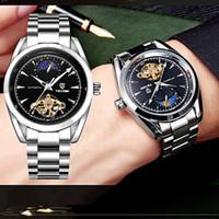 Wholesale Jaragar Water Resistant - Jaragar Horloges Mannen Men's Famous Watches Brand Day Week Tourbillon Auto Mechanical Watches Wristwatch Gift Box Free Ship