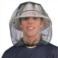 sivrisinek başlı net şapka toptan satış-Maske Kap Kollu Sivrisinek Böcek Şapka Bug Mesh Başkanı Net Yüz Koruyucu Seyahat Kamp Açık Dişli B121Q
