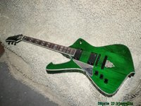 Wholesale Left Handed Green Guitars - Green Left Handed Electric Guitar Abalone binding Wholesale Guitars High Quality OEM Cheap