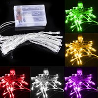 Wholesale Led Garlands Christmas - 2M 20LED 3xAA Battery Operated LED Strings LED Garland String Lights Christmas Lights Holiday Party Decoration Portable Strings LED Lighting