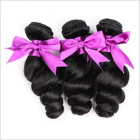 "Wholesale Wholesale Hair Extensions Suppliers - Factory Supplier 8A 3 bundles of Indian Hair brazilian hair 8""-28"" LOOSE Wave body Curly Weave Human Hair Extensions"
