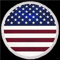 pareo de gasa al por mayor-Patrón Ecológico bandera americana Ronda playa toalla de playa del bikini Mat cubierta de Bohemia playa de la gasa Pareos Mantón toalla de baño Yoga