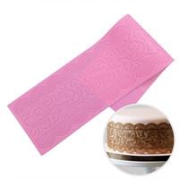 Wholesale Wedding Lace Motifs - Nouveau Motif Silicone Lace Mat Cake Mold Sugar Lace Mat Wedding Cake Decorating Tools Chocolate Molds Bakeware LFM-17