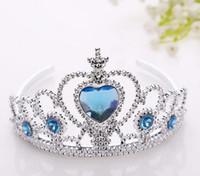 Wholesale Toy Crowns Tiaras - 2017 Frozen Children Crown Princess Anna Elsa Crown girl toy Princess tiara Headdress Cartoon G616