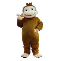 Wholesale Curious George Monkey Mascot Costume - Roller Monkey Curious George Monkey Costumes Mascot Costumes Holloween Mascot s cartoon Costumes
