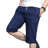 Wholesale Thin Overalls - Wholesale-2016 Plus Size M-4XL Slim Men's Cotton Casual Shorts Overalls Thin Comfort Breathable Summer Shorts Hot Sale
