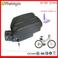 Wholesale E Bike Kit Battery - new arrival 52v e-bike battery pack li-ion ebike 51.8V 27AH Frog akku lighitum battery for electric bicycle kit For LG Cell