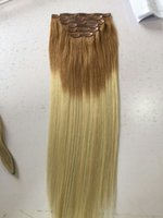 Wholesale Chestnut Human Hair Wigs - Brazilian virgin Remy Human Hair chestnut brown and black Straight Style Clips in Hair