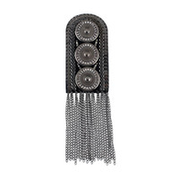 Mexican carve board - New Arrival Fashion Hot Selling Tassel Steam Carved Button Punk Alloy Shoulder Board Jewelry
