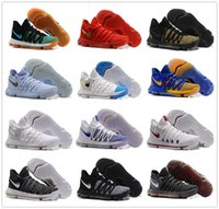 Wholesale Kd Boots - New Arrival 2017 Kevin Durant 10 Basketball Shoes Men High Quality KD 10 X Oreo Still Zoom KD10 Sport Shoe White month Athletic Size 7-12