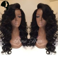 Wholesale Long Human Hair Part Wig - Deep Wave Full Lace wigs Natural Color Side Part Wave Human Hair Wig Lace Front Wig Deep Wave Peruvian Hair Full Lace Wigs