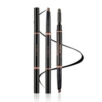 Wholesale Brown Filler - Halloween Decoration Makeup Tools Threading Eyebrow Brown pencil Filler Duo Brow Definer Best Fit Me Eyebrow Christmas gift