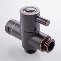 """Wholesale Brass Valve Oil - Oil Rubbed Bronze G1 2"""" Brass T-adapter valve Diverter for handheld Shower Head Bidet Spray"""