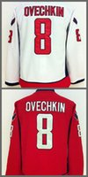 Wholesale road fashion - Washington 8 Alex Ovechkin Jersey Men Fashion Home Red Road White Alexander Ovechkin Ice Hockey Jerseys Sports All Stitched Quality