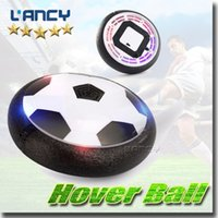 Wholesale Air Craft - Air Power Soccer Indoor Football Toy hover crafts Novelty Toy Multi-surface Gliding Sports suspension football hover ball